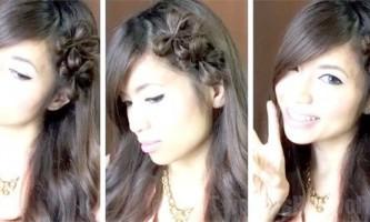 Бантики з волосся у формі квітки