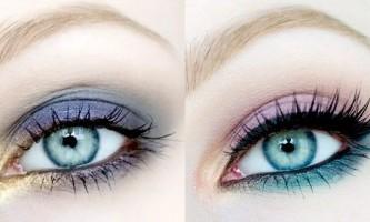 Кольоровий макіяж очей: фото-урок