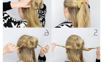Елегантна зачіска з бубликом для волосся