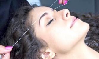 Як правильно зробити оформлення брів ниткою