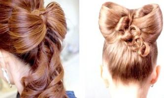 Як зробити бантик з волосся: кілька варіантів