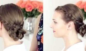 Красива зібрана зачіска для будь-якого віку