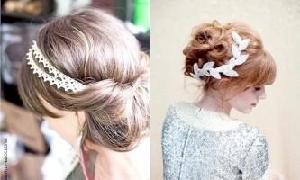 Красиві грецькі зачіски з пов`язкою і чубчиком