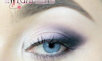 Макіяж очей в фіолетових тонах