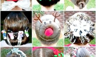 Зачіски на новий рік на довге волосся своїми руками