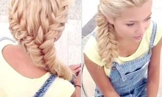 Елегантна зачіска з косами