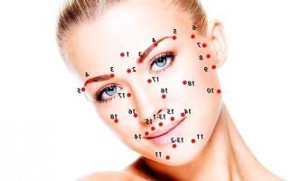 Визначаємо біологічно активні точки на обличчі