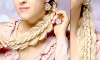 Плетіння подвійний коси на довге волосся