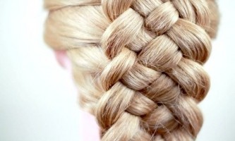 Плетіння коси з п`яти прядок