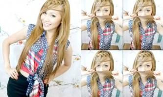 Зачіска коса водоспад в богемному стилі