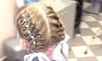 Зачіска на випускний в дитячий сад