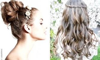 Зачіска з косою «французький водоспад»