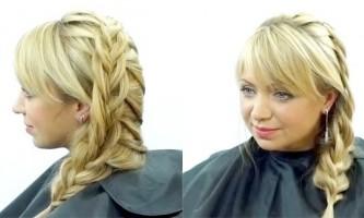 Оригінальна коса на довге волосся
