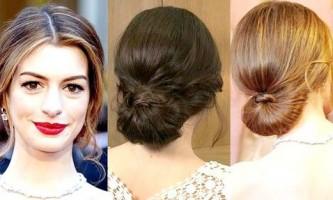 Романтична зачіска - низький пучок